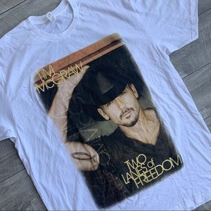 White Tim McGraw 2013 concert/tour series t-shirt